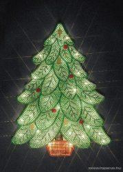 Design Dekor KSA 405 Beltéri Karácsonyfa figura világítással