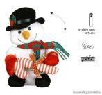 Design Dekor KSA 701 Beltéri elemes táncoló hóember, sétapálcával, 25 x 15 cm