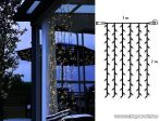 System Decor LED KSA 725 Kültéri toldható LED-es Fényfüggöny EXTRA, 100 x 200 cm, 100 db meleg fehér LED-del