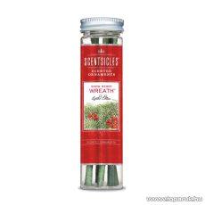 ScentSicles KSC 003 Snow Berry Wreath műfenyőre akasztható illatrúd (illatpálca), fagyöngy illattal, 6 db pálca / doboz
