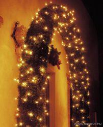 NORTEX KMN 033 Twinkle Light szabályozható beltéri fényfüzér, 180 db meleg fehér izzóval, 10 m zöld gumikábellel (111-037)
