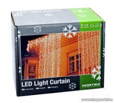 Nortex Light Curtain KMN 067 Kültéri toldható LED-es fényfüggöny, 200 x 140 cm, 144 db hidegfehér LED-del - készlethiány