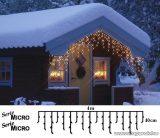 SERIE MICRO KSA 514 Kültéri micro izzós jégcsapfüzér, 400 x 40 cm, 200 db fehér égővel