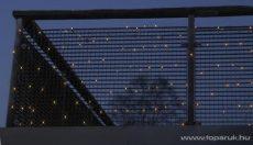 SERIE MICRO KST 515 Kültéri Micro izzós fényháló, 200 x 150 cm, melegfehér