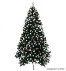 TIROL PINE vegyes levélzetű havas ágvégű, tobozos extradús műfenyő, 240 cm (KFB 064)