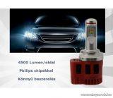 P6 LED Főfényforrás helyére, 45W, 6000K, H1 foglalatba
