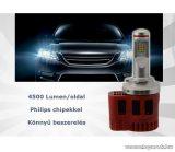 P6 LED Főfényforrás helyére, 45W, 6000K, H4 foglalatba