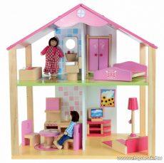 Eichhorn Kétszintes fa babaház bútorokkal és babákkal (100002498) - készlethiány