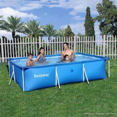 Bestway AMALFI Fémvázas, szögletes kerti medence vízforgató nélkül, 300 x 201 x 66 cm - készlethiány