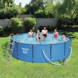 Bestway ELBA SUPERIOR Fémvázas kerti medence vízforgatóval és létrával, 366 x 100 cm