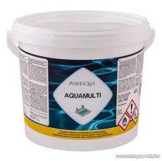 PoolTrend / PontAqua AQUAMULTI kombinált medence klórozó, algaölő, pelyhesítő vízkezelő szer, 3 kg (15 db tabletta)