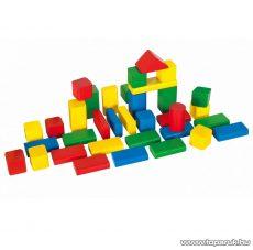 Heros 50 darabos színes fa építőkockák (100050151)