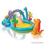 Intex Dinoland vízi játszótér, csúszdás kerti medence, 333 x 229 x 112 cm