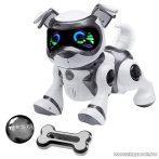 TEKSTA Robot kutya, interaktív játék kutyus, fekete