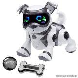 TEKSTA Robot kutyus, interaktív játék kutya, fekete