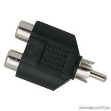 RCA Y-átalakító, 2 x RCA aljzat - RCA dugó (05099X)