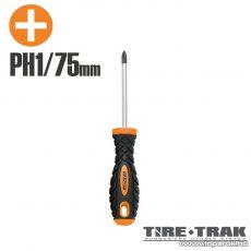 Handy TIRE TRAK gumírozott nyelű csavarhúzó, PH1 (10523)