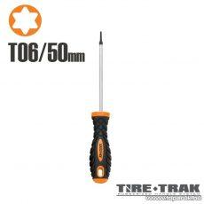 Handy TIRE TRAK gumírozott nyelű csavarhúzó, T6 (10532)