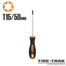 Handy TIRE TRAK gumírozott nyelű csavarhúzó, T15 (10537)