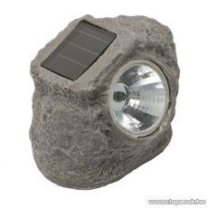 LED-es kő alakú napelemes szolár lámpa (11389)
