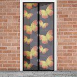 Mosható szúnyogháló függöny ajtóra, mágnessel záródó, 100 x 210 cm (mágneses szúnyogháló), pillangós mintás
