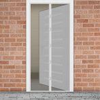 Mosható szúnyogháló függöny ajtóra, mágnessel záródó, 100 x 210 cm (mágneses szúnyogháló), fehér színű