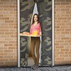 Mosható szúnyogháló függöny ajtóra, mágnessel záródó, 100 x 210 cm (mágneses szúnyogháló), army mintás