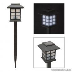 Szolár LED-es napelemes kerti lámpa, fekete, 38 cm (11403)
