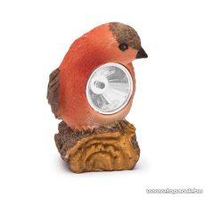 LED-es napelemes szolár világítás, állatfigura design, piros madárka