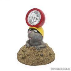 Szolár LED-es napelemes kerti lámpa, állatfigura, vakond, 14 x 17 cm (11426C)