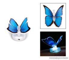 delight 11434-05 Beltéri elemes LED-es világító pillangó dísz, 1 db színváltós LED-del (kék)