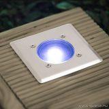 LED-es süllyeszthető, lépésálló szolár lámpa, négyzet (11440A)