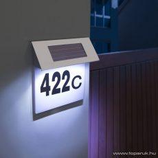 delight 11446 Szolár napelemes házszámfény rozsdamentes acélból - megszűnt termék: 2015. december