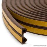 delight Öntapadós ajtó / ablak szigetelő, P profil, 6 m, barna, 9 mm (11597BR)