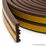 delight Öntapadós ajtó / ablak szigetelő, E profil, 6 m, barna, 9 mm (11598BR)
