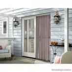 Szalagfüggöny ajtóra, 80 x 200 cm, színes (11610)