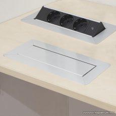 Rejtett elosztó, 3-as, 1,5 m kábelhossz, FLIP-UP kivitel, ezüst (20440)