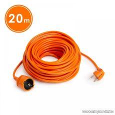 Hálózati lengő hosszabbító, fűnyíró kábel, narancssárga, 20 m (20502OR)