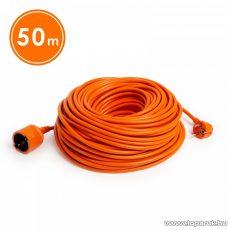 Hálózati hosszabbító kábel, fűnyíró kábel, narancssárga, 50 méter (20509OR)