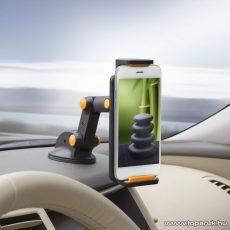 delight Univerzális autós telefon tartó, tablet tartó, narancs (55029OR)
