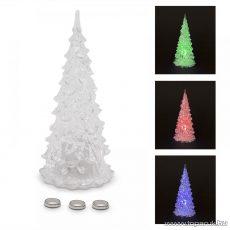 Beltéri 1 db Színváltós LED-del világító karácsonyfa dekoráció, 27 cm