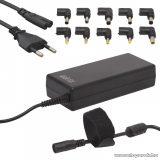 Delight univerzális laptop / notebook töltő adapter tápkábellel, 12V - 24V / 5A - 6A, 90W (55360)