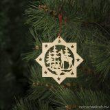 Design Dekor 55910 Beltéri fa függődísz, 2 db / csomag