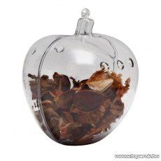 Festhető, tölthető, akasztható műanyag Karácsonyi dísz, Potpourri alma, 100 mm (55919) - készlethiány