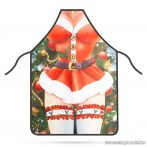 Konyhai kötény, karácsonyi dekorációval - női, 50 x 70 cm