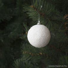 Design Dekor 55950 Beltéri fenyőfa és fenyő girland akasztható dísz, hógolyó, 10 cm, 2 db / csomag