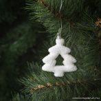 Design Dekor 55951 Beltéri fenyőfa és fenyő girland akasztható dísz, Hókristály fenyő, 8 cm, 4 db / csomag