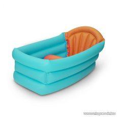 Felfújható baba kád (pancsoló gyermek medence), 80 x 52 x 42 cm, kék / narancs (56136)