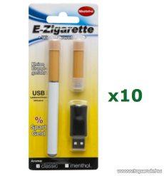 Nikotinmentes elektromos cigaretta szett, 10 db / csomag (57060) - megszűnt termék: 2015. május