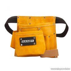 Handy Hasított bőrből készült övtáska, szerszámtartó és szegtartó táska, 20 x 21 cm (10262)